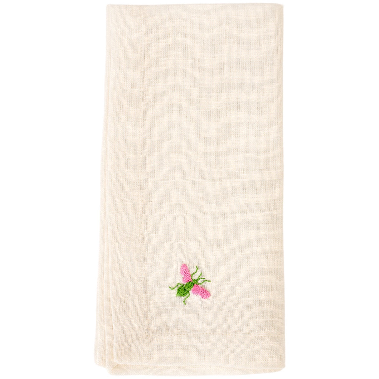 Bumble Bee Napkin - Green/Pink