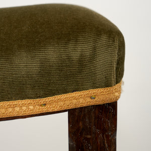 Pair of Olive Green Coronation Stools