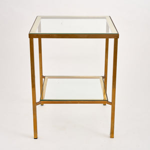 Glass & Brass Etagere/Side Table
