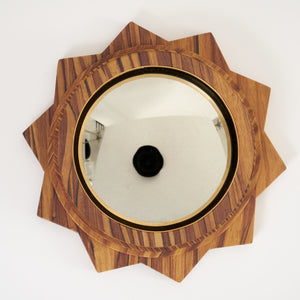 Small Convex Mirror - Pitch Pine