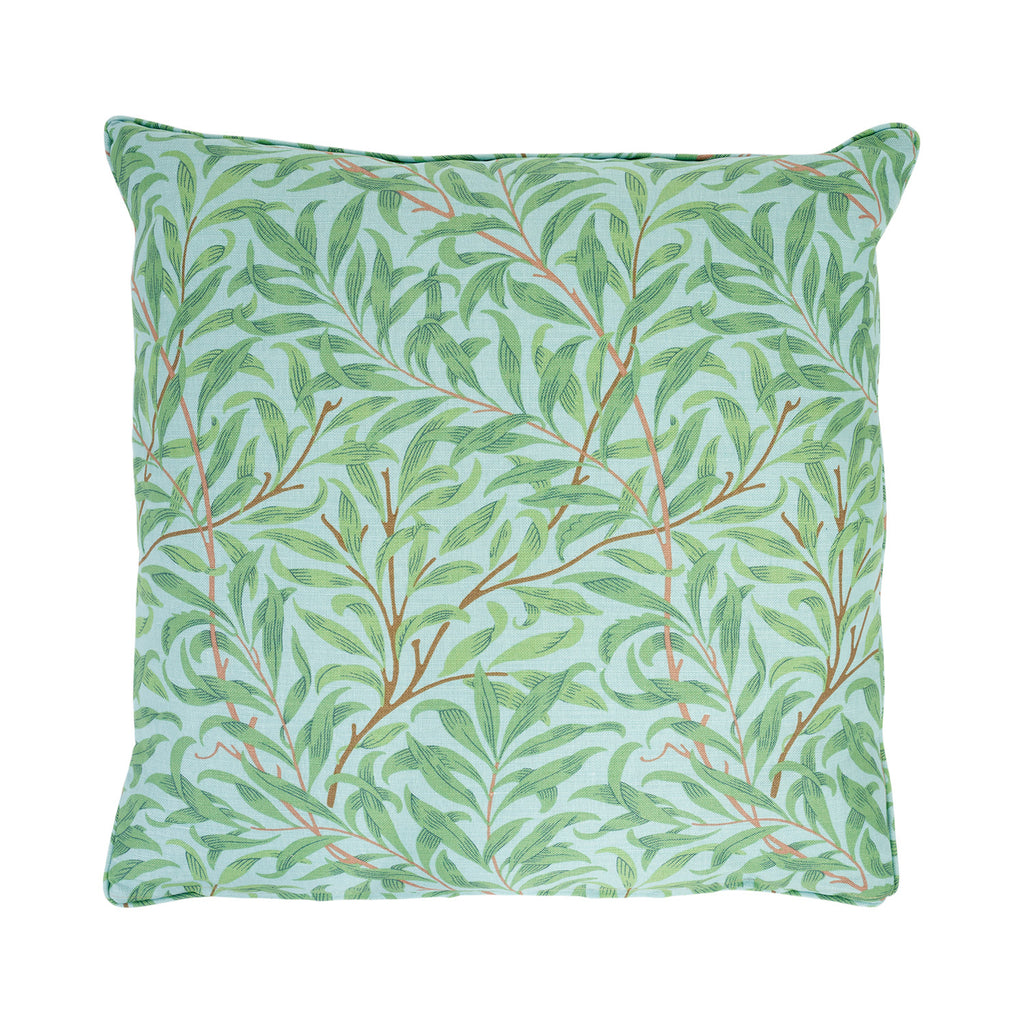 Willow Bough Cushion - Sky/Leaf Green