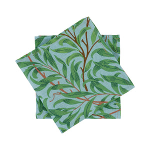 Willow Bough Napkin - Sky Blue & Leaf Green