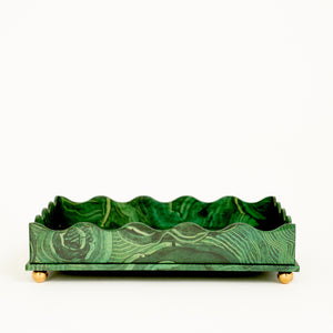 Wave Edge Tray - Malachite Small