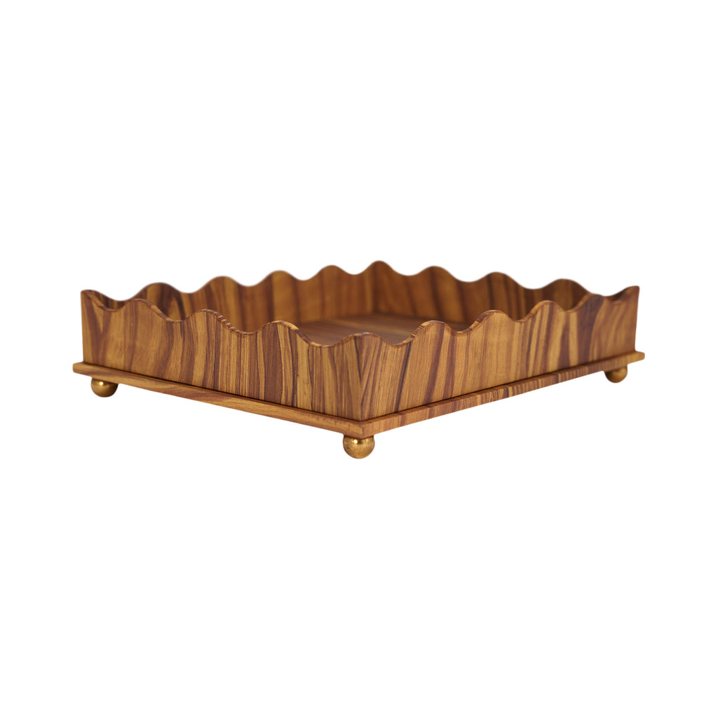 Wave Edge Tray - Pitch Pine Small