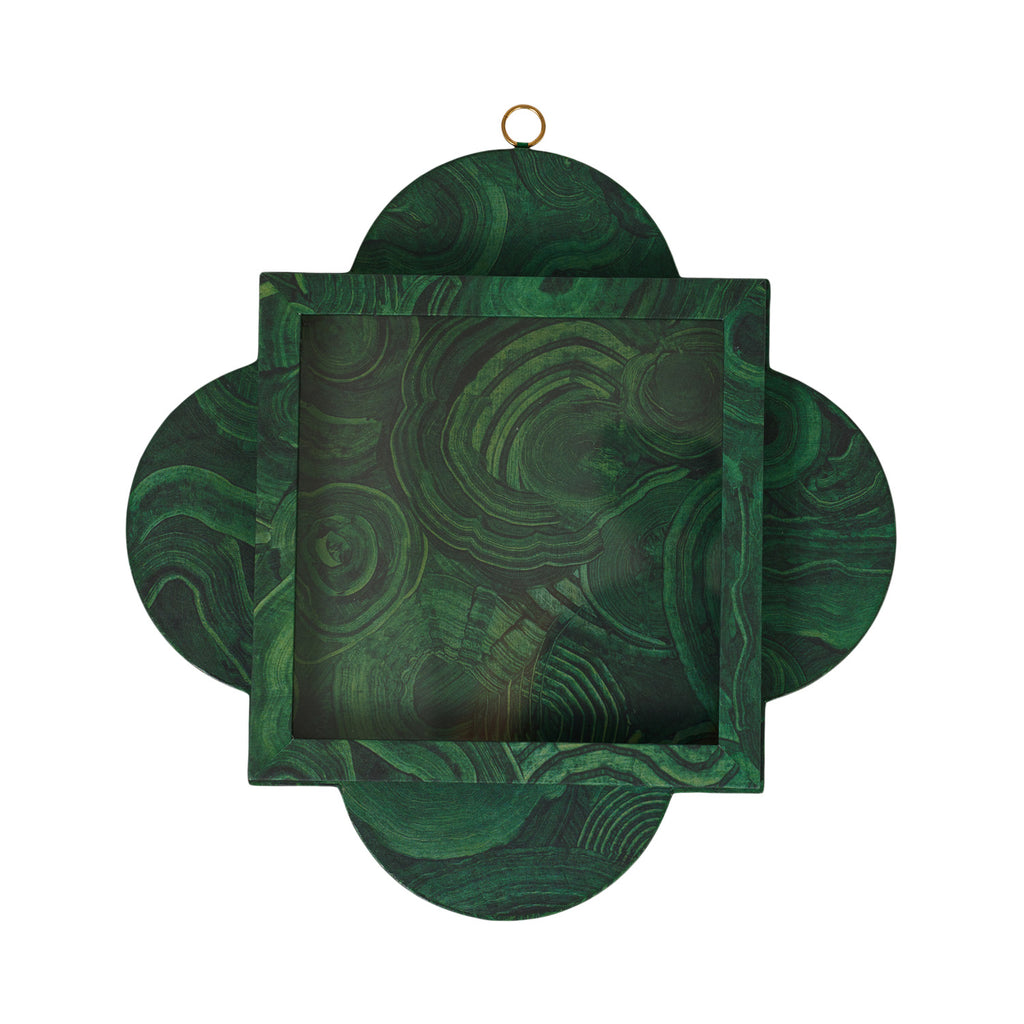 Quatrefoil Shadowbox - Malachite