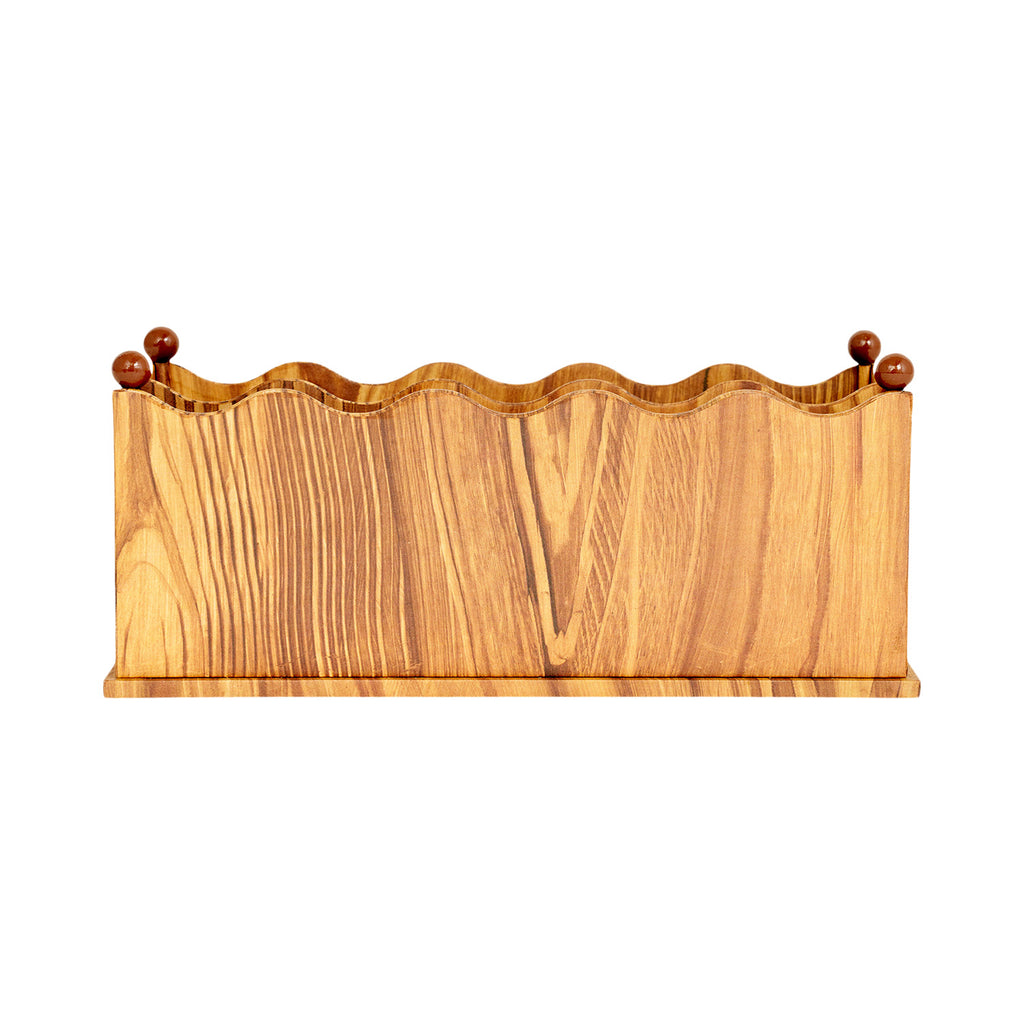 Wave Edge Letter Sorter - Pitch Pine
