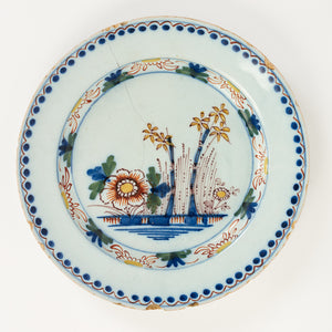 Delft Polychrome Plates c.18th