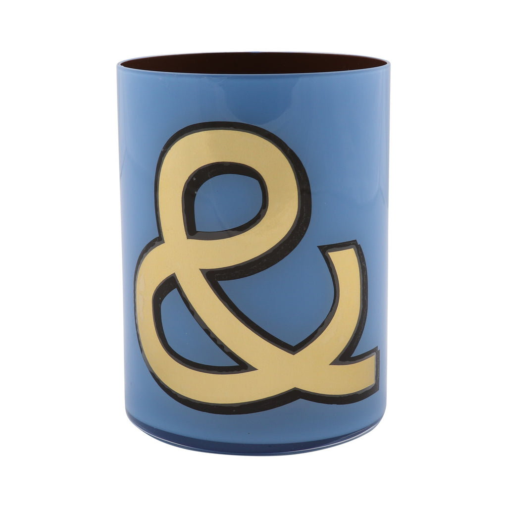 Alphabet Brush Pot - & PERIWINKLE/BROWN