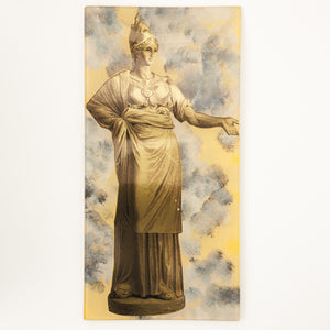 "6"" x 12"" Deity Decoupage Tray - Yellow"