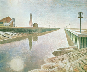 Rye Harbour by Eric Ravilious