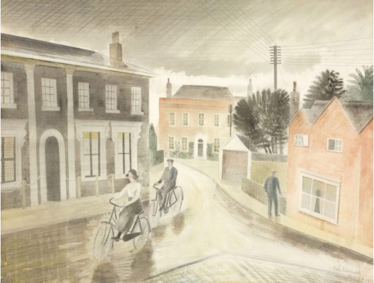 Village Street by Eric Ravilious