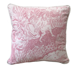 Small Apple Pickers Cushion - Ethel Pink