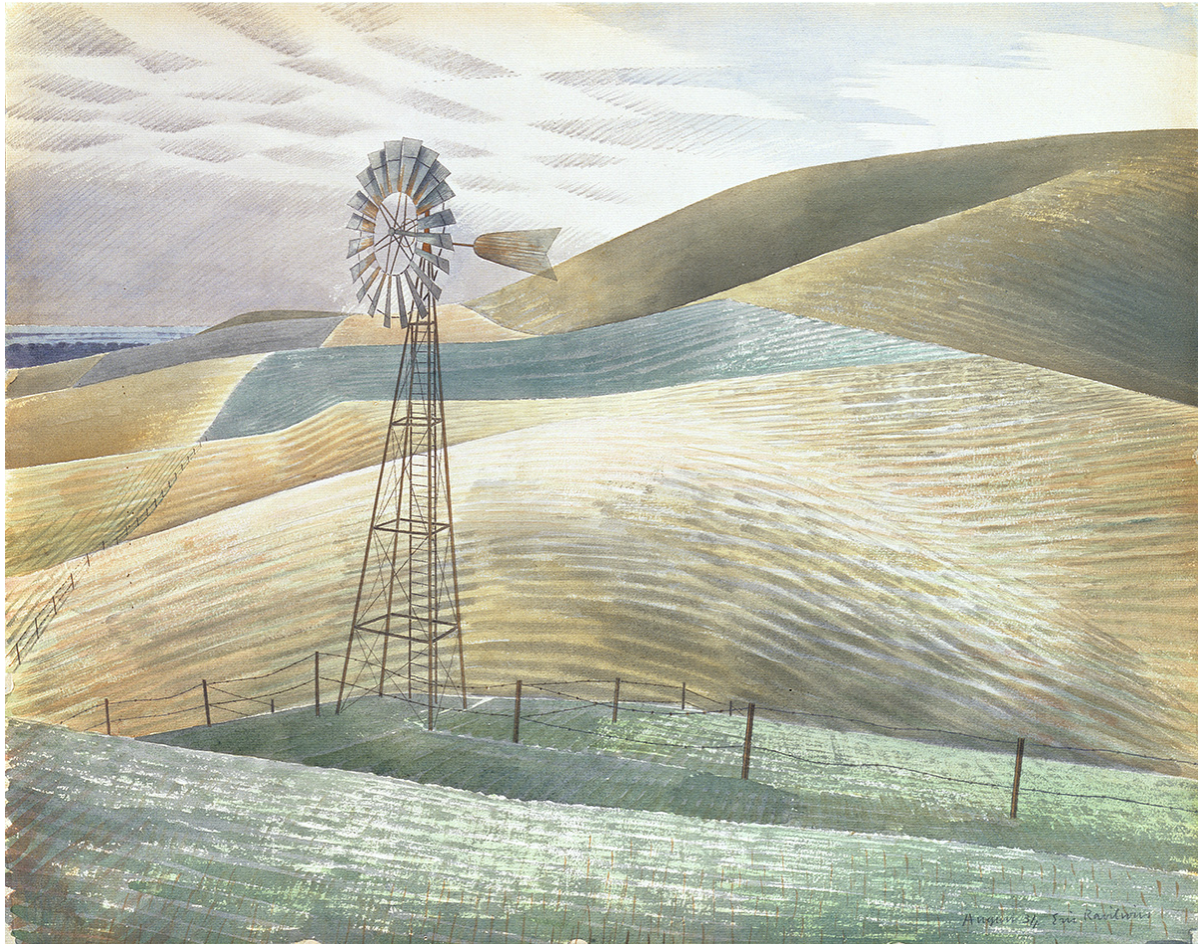 Windmill on Downs by Eric Ravilious