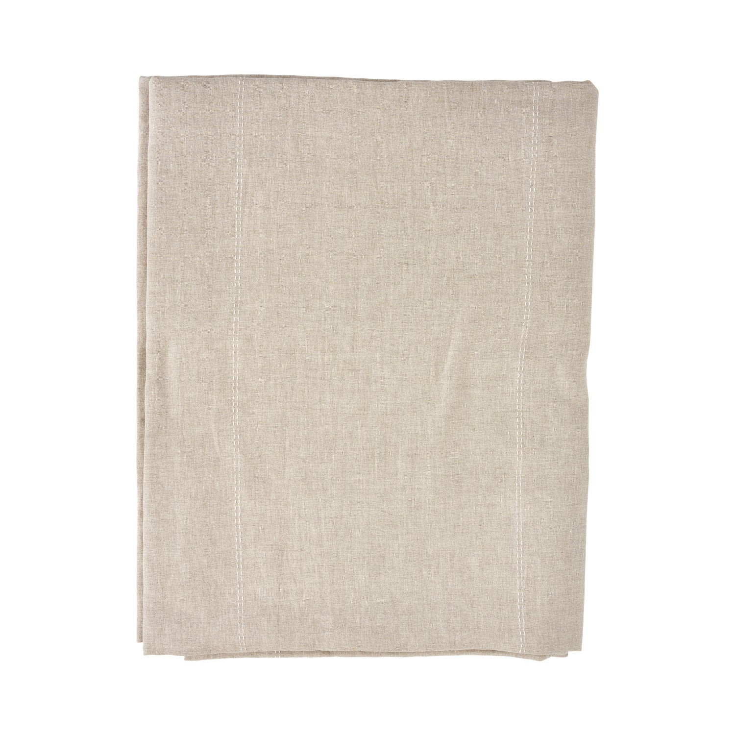 Linen Tablecloth - White Stripe