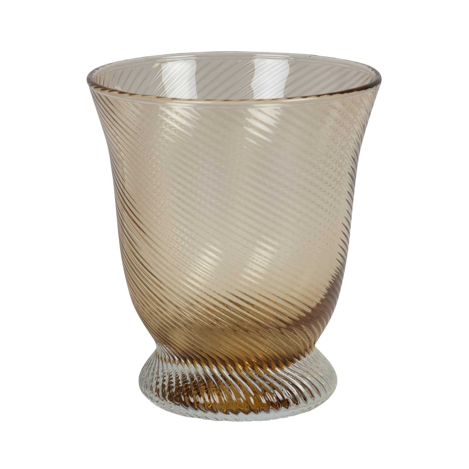 Amber Twist Water Glass