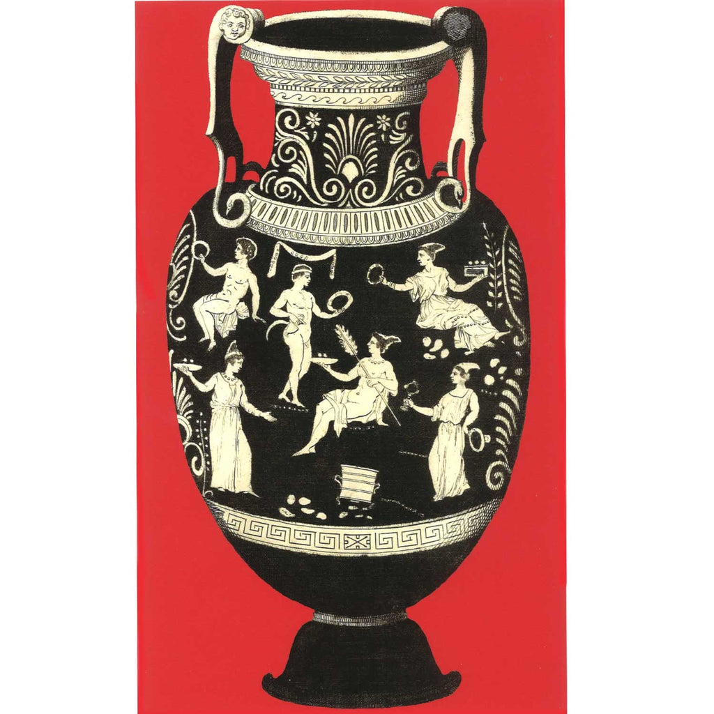 Ancient Greek Vase Print - Red