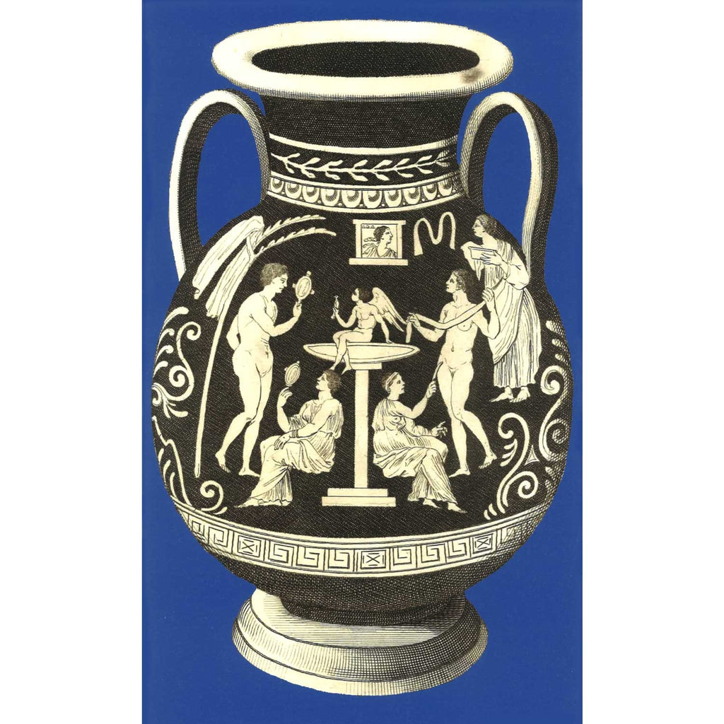 Ancient Greek Vase Print - Blue