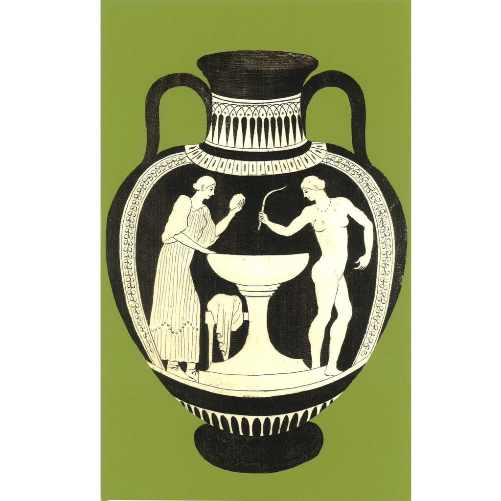 Ancient Greek Vase Print - Cerise