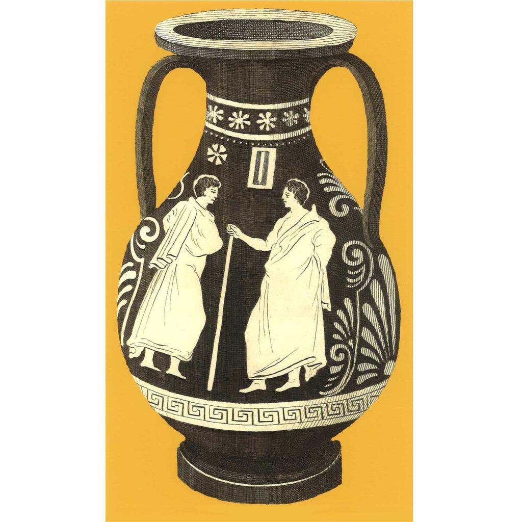 Ancient Greek Vase Print - Yellow