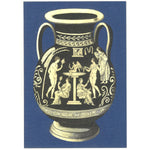 Greek Vase Greeting Card - Navy
