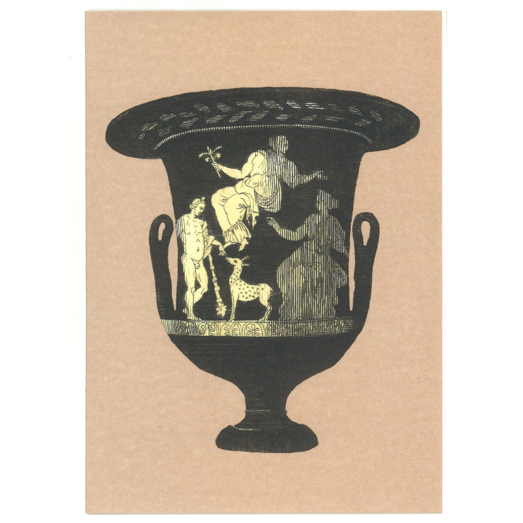 Greek Vase Greeting Card - Pink