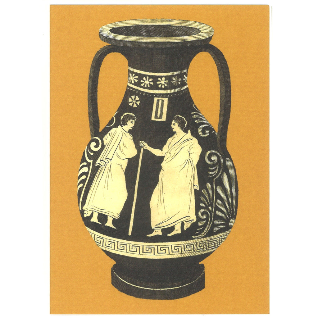 Greek Vase Greeting Card - Yellow