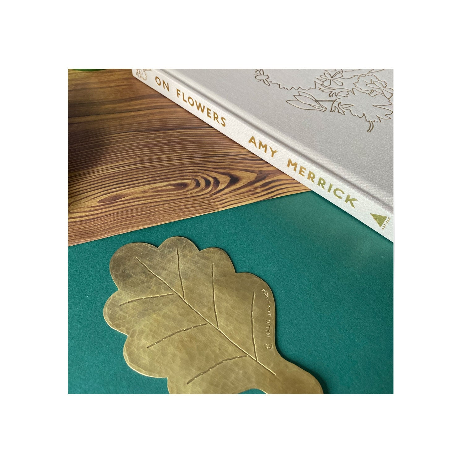 Hammer  Beaten Oak Leaf Coasters - Set of Two