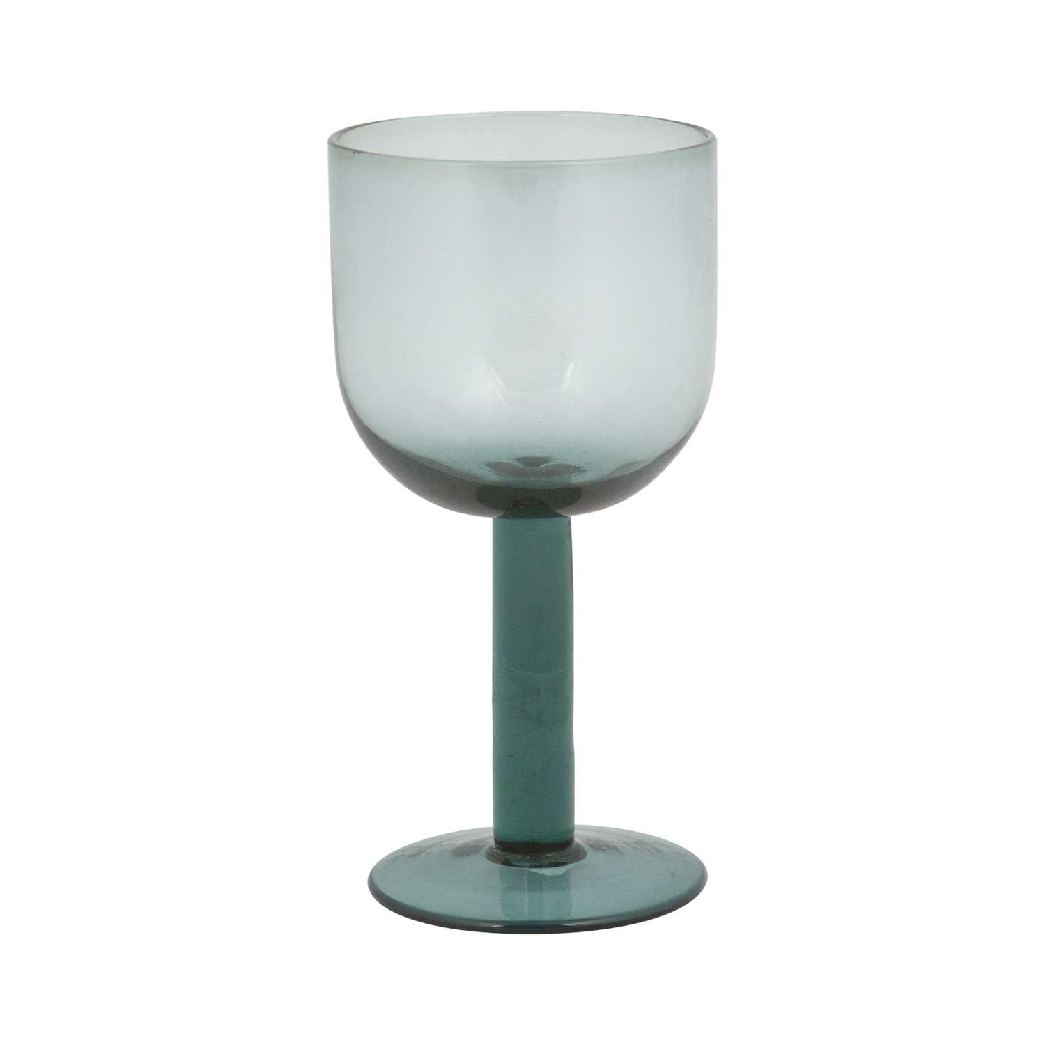 Flume Smoked Blue Red Wine Glass