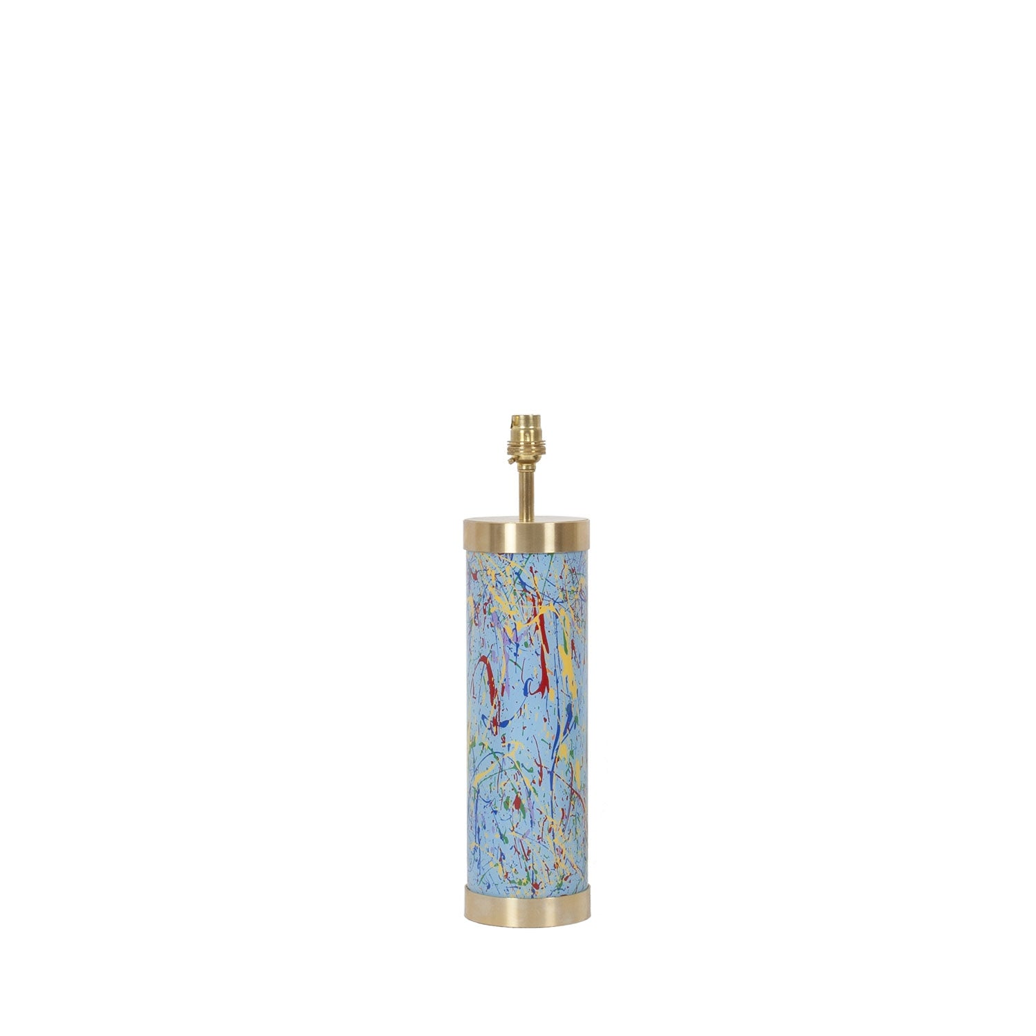 Glass & Brass Lamp - End of Day Confetti - Blue