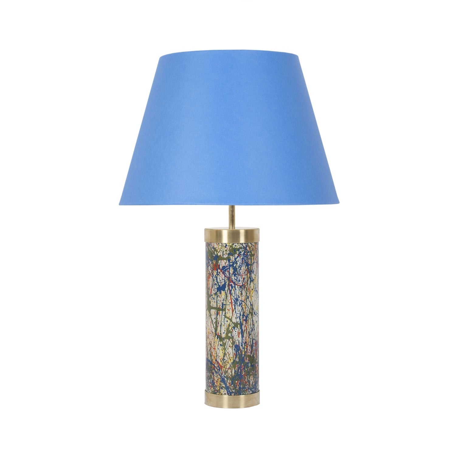 Glass & Brass Lamp - End of Day Confetti - White