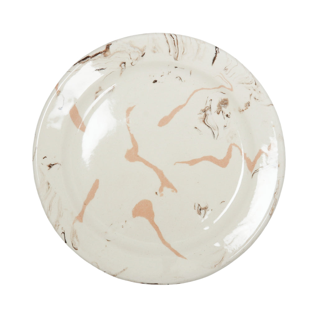 Cream Swirl Earthenware - Round Dinner Plate