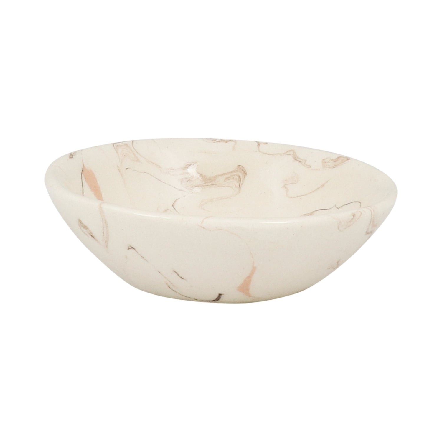 Cream Swirl Earthenware Condiment Bowl - 10cm