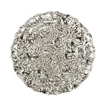 Black & Cream Swirl Earthenware - Serving Platter