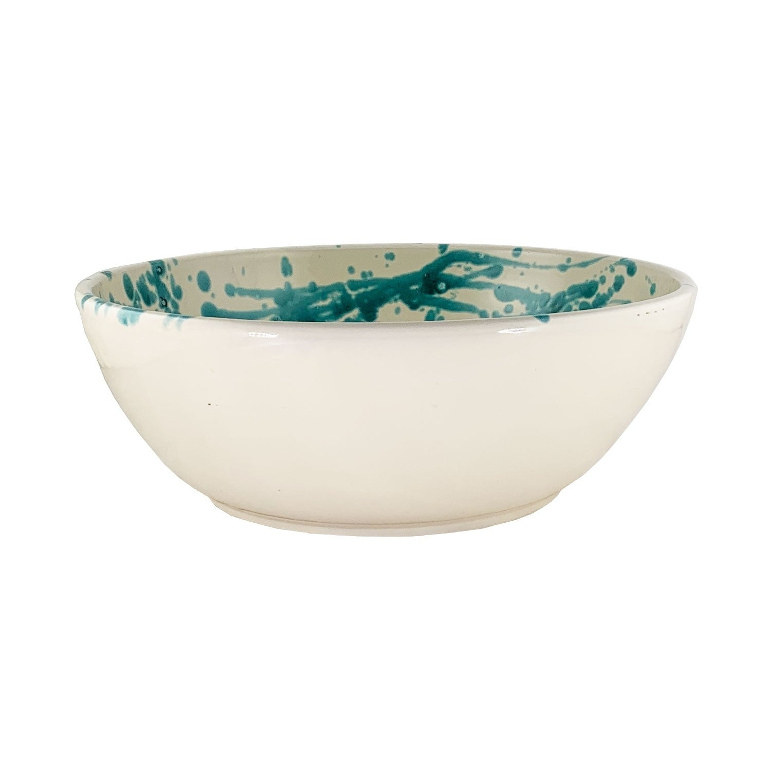 Splatterware Large Serving Bowl - Alimini Blue