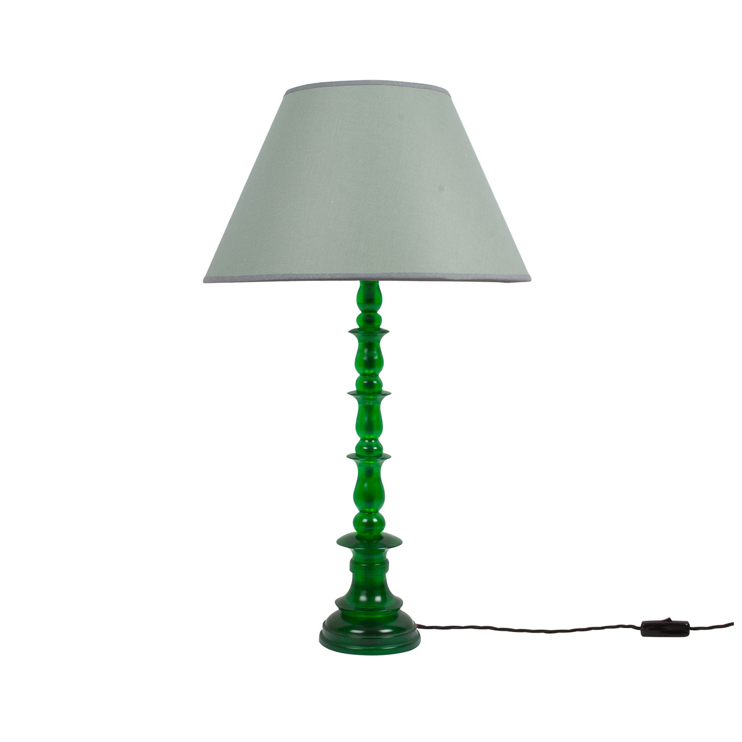 Spring Resin Lamp Green