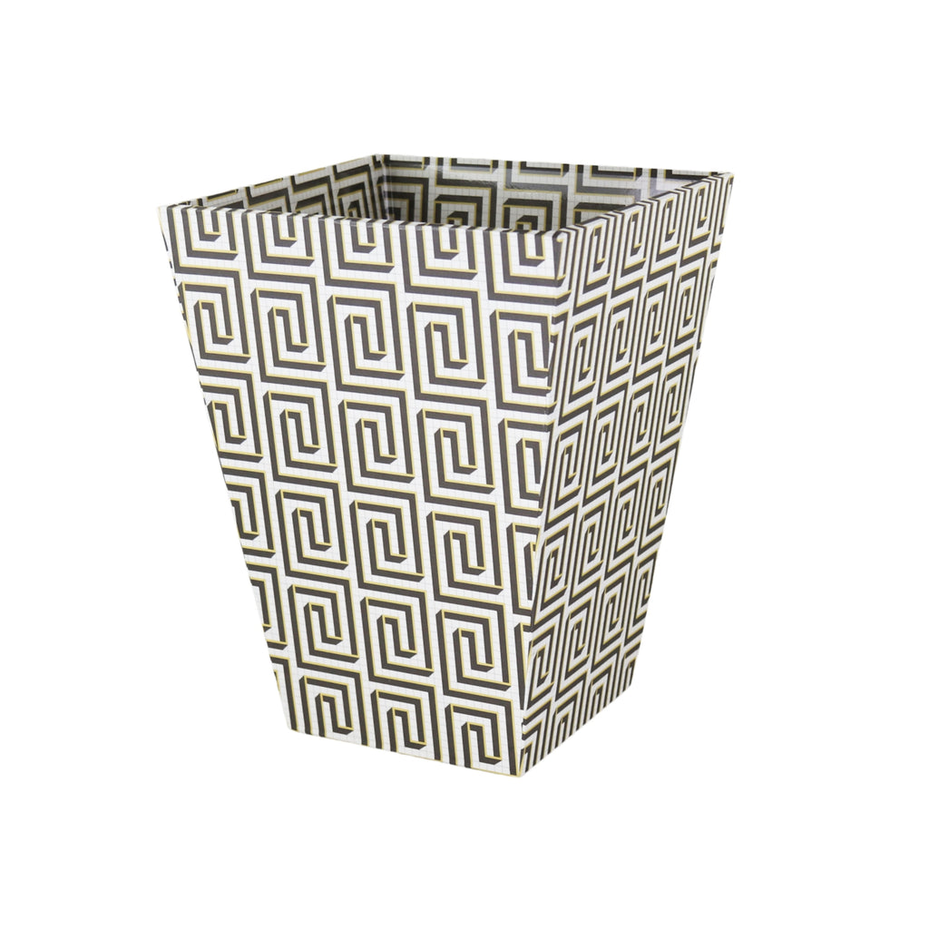 Waste Paper Bin - Shadowed Meander
