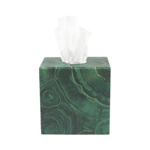 Tissue Box - Malachite
