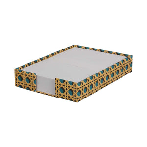 A5 Memo Block - Teal Regency Caning