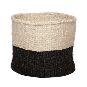 Sisal Basket Black M