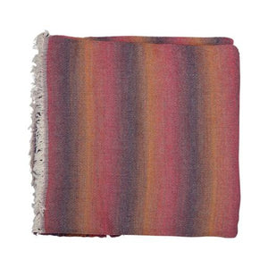 Throw - Blurred Stripe Pink - 125cm x 150cm