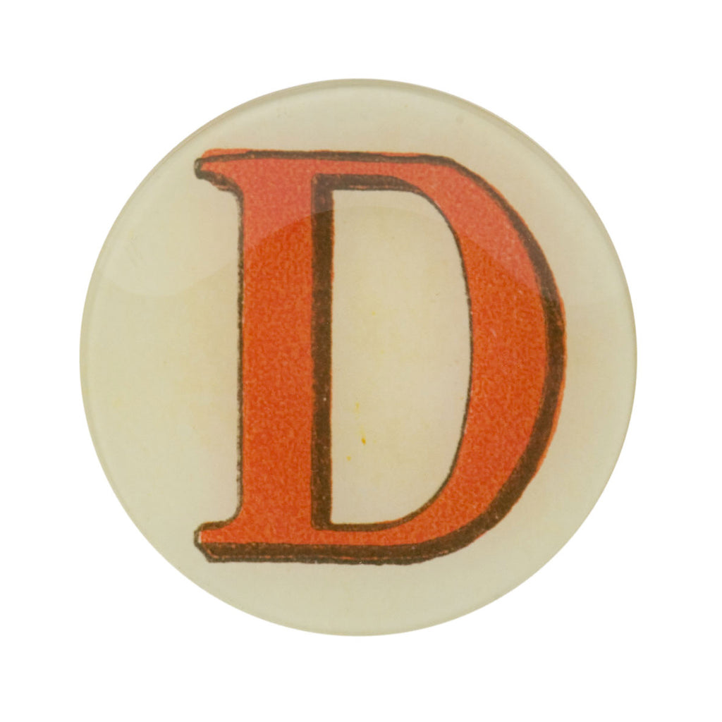 "5 3/4"" Picture Plate Red Letter D"