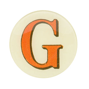 "5 3/4"" Picture Plate Red Letter G"