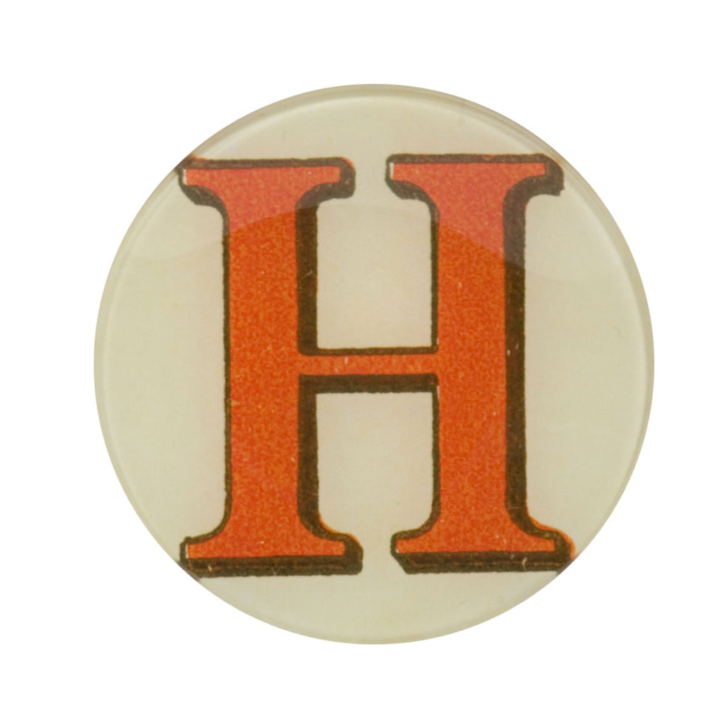 "5 3/4"" Picture Plate Red Letter H"