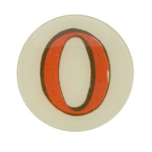 "5 3/4"" Picture Plate Red Letter O"