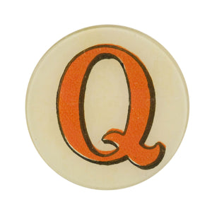 "5 3/4"" Picture Plate Red Letter Q"