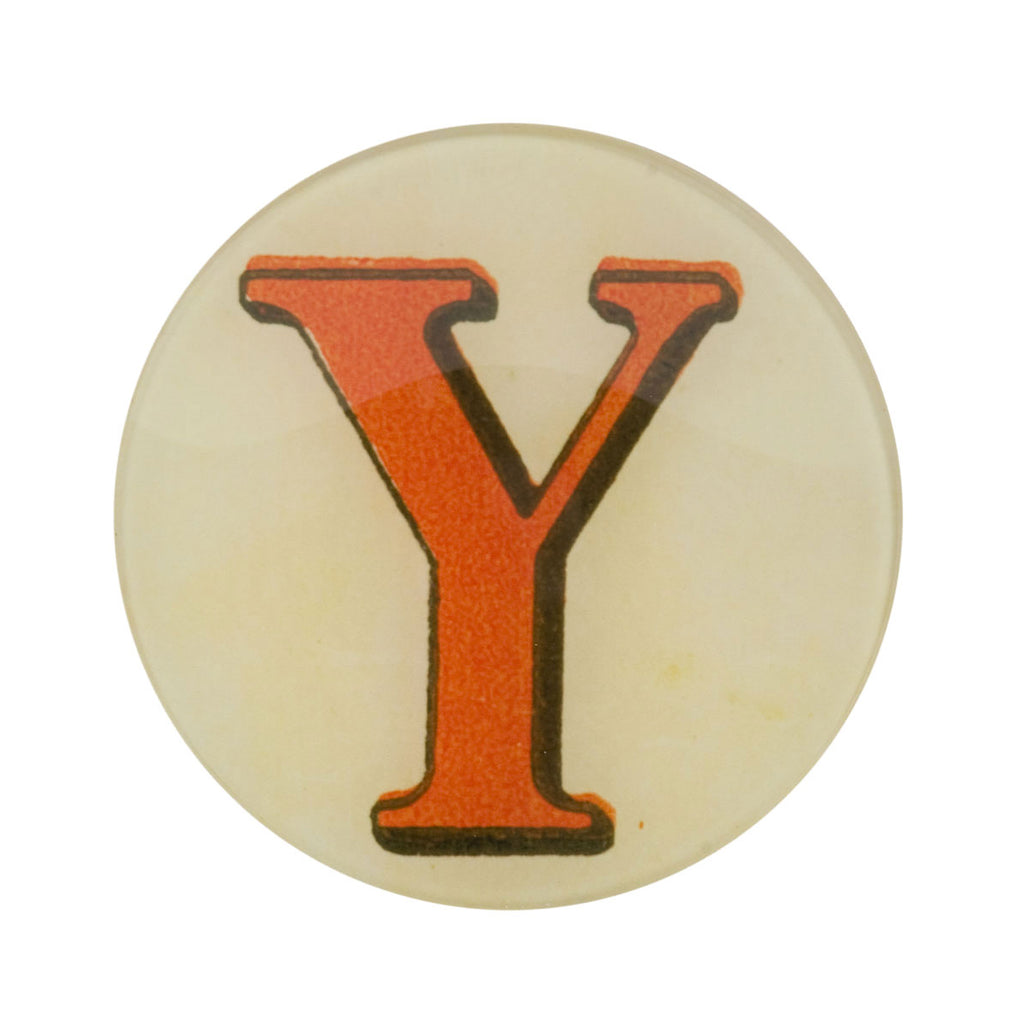 "5 3/4"" Picture Plate Red Letter Y"