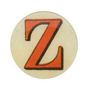 "5 3/4"" Picture Plate Red Letter Z"