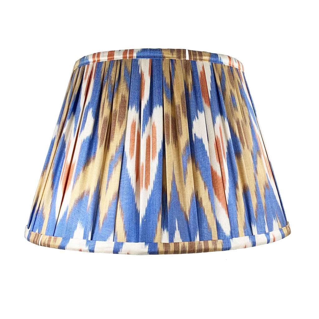 "14"" 'Deniz' Silk Ikat Lampshade"