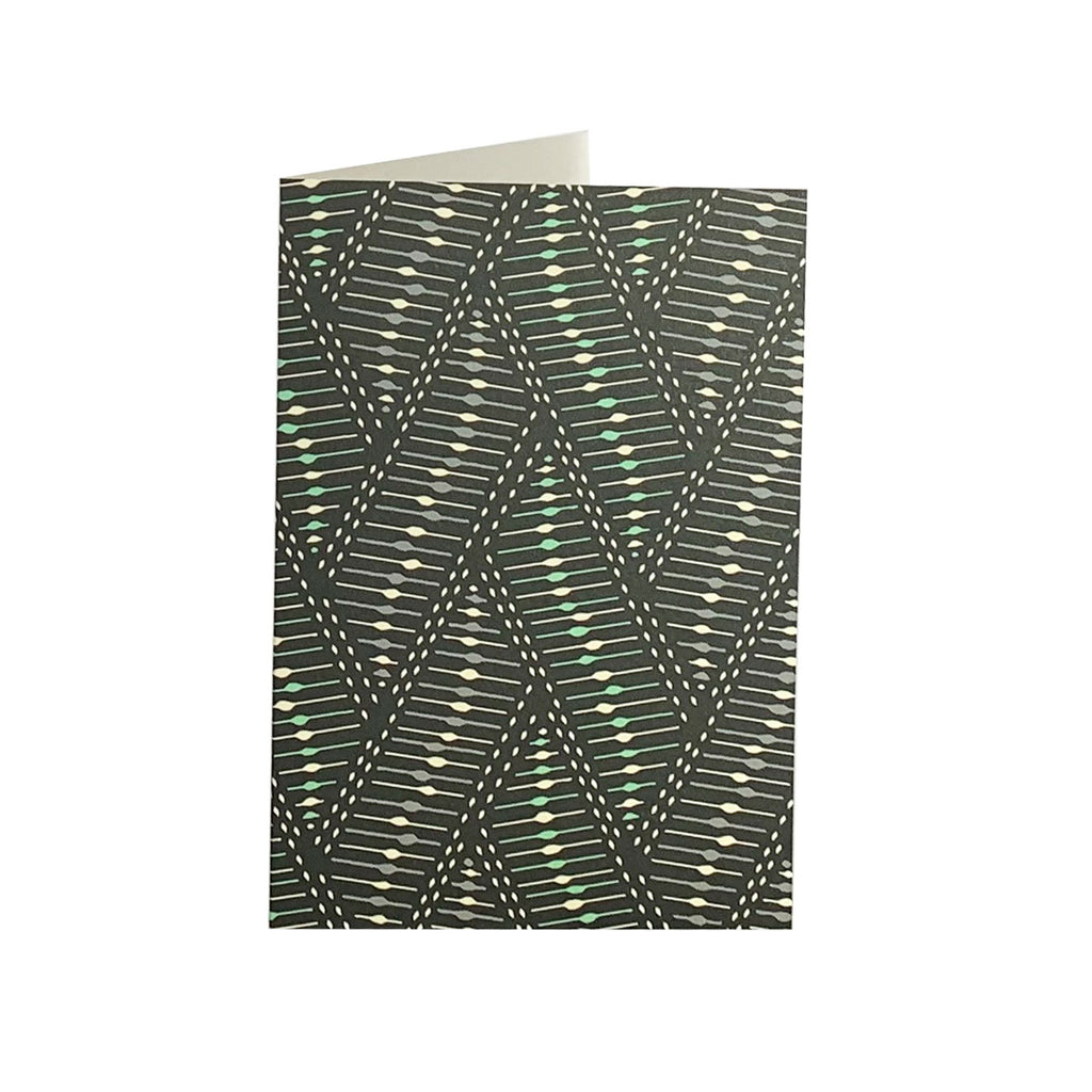 Geometric Mint Greeting Card