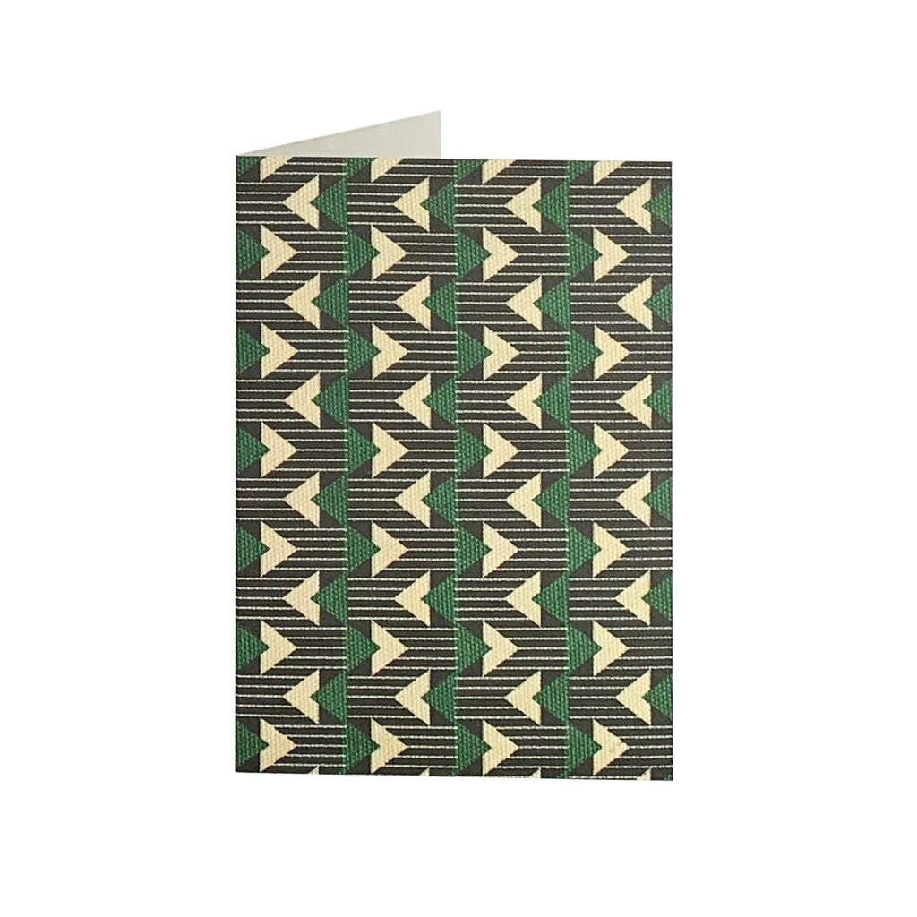 Geometric Green Greeting Card